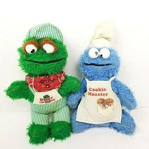 Vintage Knickerbocker Cookie Monster Oscar Plush